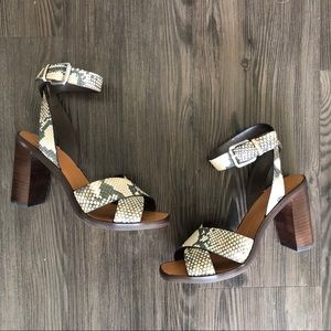 NEW Dolce Vita Nala Heeled Sandals in Snake